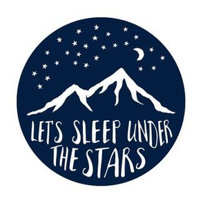 "Navy 6.5"" Let's sleep under the stars  C18BS"
