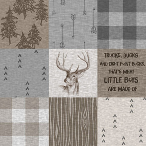what little boys are made of - rustic Buck - large font