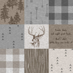 What little boys are made of - rustic Buck - small font