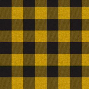 """1"""" Gold/ Yellow And Black House Check"""