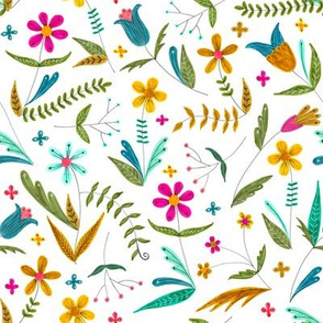 bright simple floral pattern