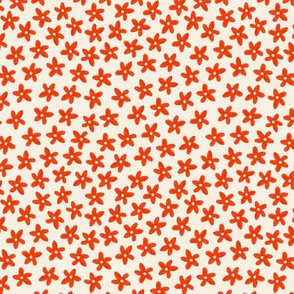 simple red tiny flower pattern