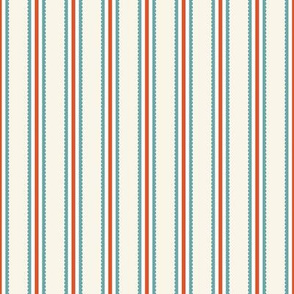 stripes in aqua and red