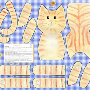 Marigold Cut and Sew Cat Doll