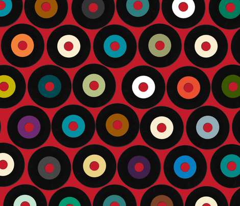 VINYL RED fabric by scrummy on Spoonflower - custom fabric