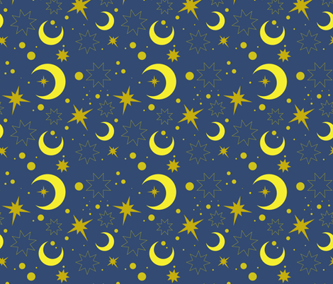 Moroccan night sky fabric by truejune on Spoonflower - custom fabric