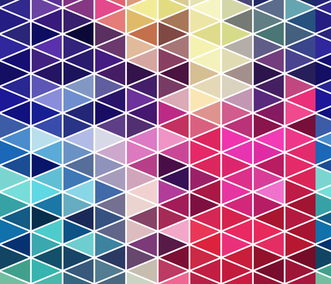 Rainbow Triangles  fabric by puggy_bubbles on Spoonflower - custom fabric