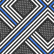 thin blue line - geometric