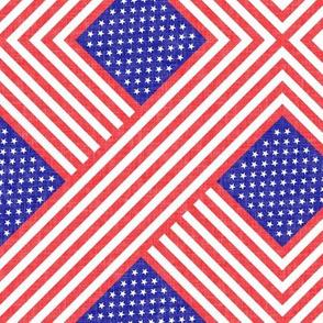 American flag  - geometric