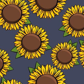 Sunflowers - blue