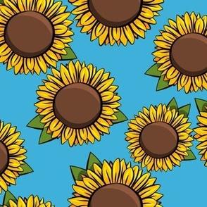 Sunflowers - blue
