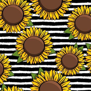 Sunflowers - black stripes