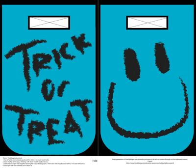 Trick or Treat bag: Teal Smile