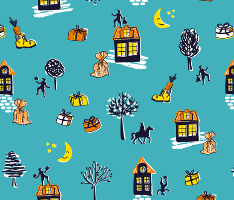 Sinterklaas in Holland fabric by revista on Spoonflower - custom fabric