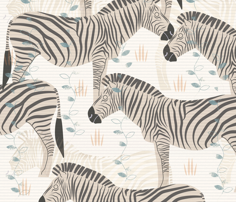 zebras fabric by grace_andersson on Spoonflower - custom fabric