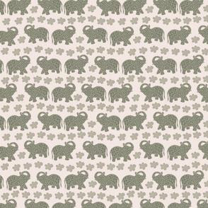 Elephants&flowers