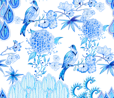 Dew Drops fabric by milenagaytandzhieva on Spoonflower - custom fabric