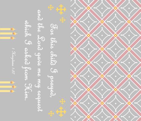 Baby Prayer Pillow fabric by st_tabithas_workshop on Spoonflower - custom fabric