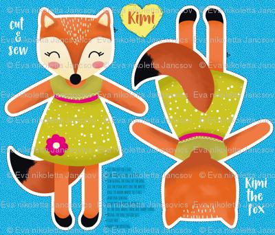 Kimi the fox- cut and sew