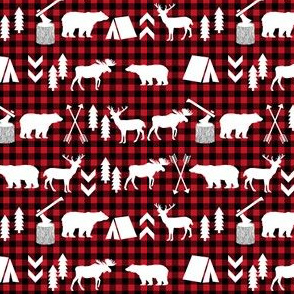 MINI - buffalo plaid woodland christmas winter fall cabin print