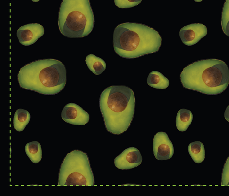 Reusable Avocado Produce Bag fabric by chelsey_byrd on Spoonflower - custom fabric