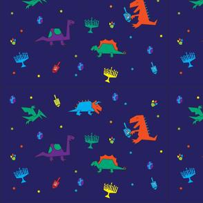 Dinos & Dreidels Blue