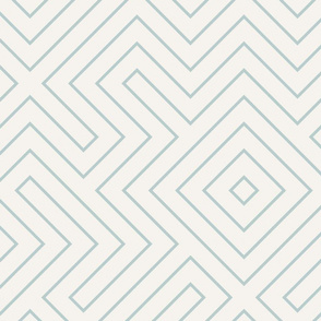 tribal maze AQUA ON CREAM