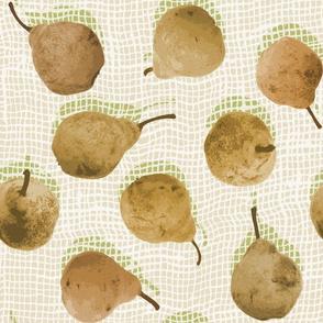 Pears on Burlap