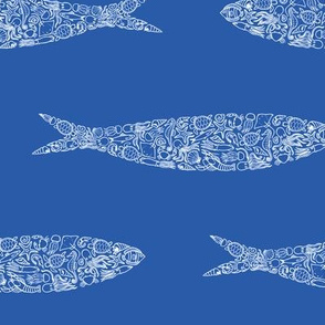 Blue Sardine of Ocean Creatures
