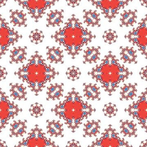 Red and white abstraction