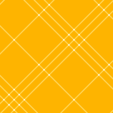"""Jacobite coat tartan, 6"""" diagonal repeat  - bright gold with white stripes fabric by weavingmajor on Spoonflower - custom fabric"""