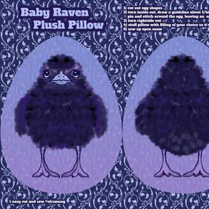 Baby Raven Plush Pillow