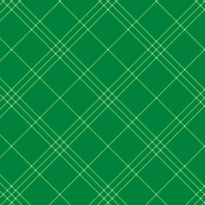 "Jacobite coat tartan, 6"" diagonal repeat  - spearmint green with white stripes"
