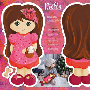 Bella cut and sew doll 21x18
