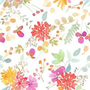 floral watercolor garden