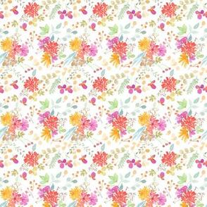 floral watercolor garden mini