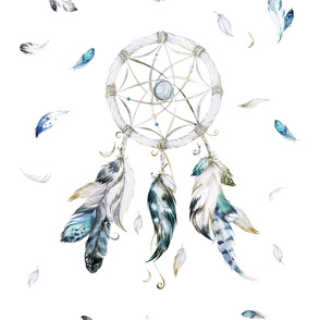 "42""x54"" 2 to 3 Yards of 42"" wide Fabric Dream Catcher"