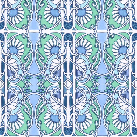Paisley and Daisy Consortium fabric by edsel2084 on Spoonflower - custom fabric