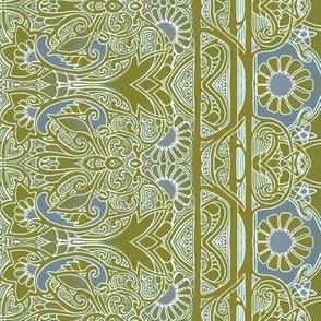 Khaki Garden Stripe