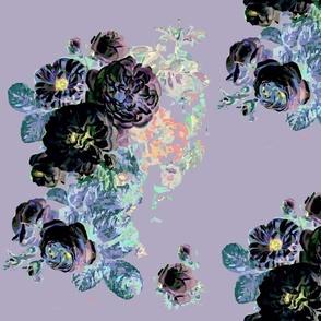 PURPLE FLORAL roses peonies