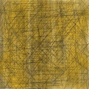 LINES: Crosshatch Mustard310x10