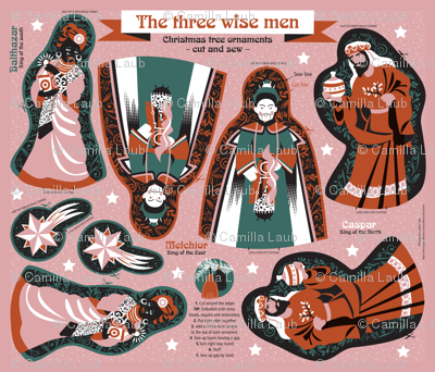 The three wise men – cut and sew