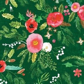 Noël Forest Floral (green) MED