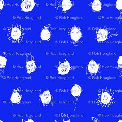 scribble dots royal
