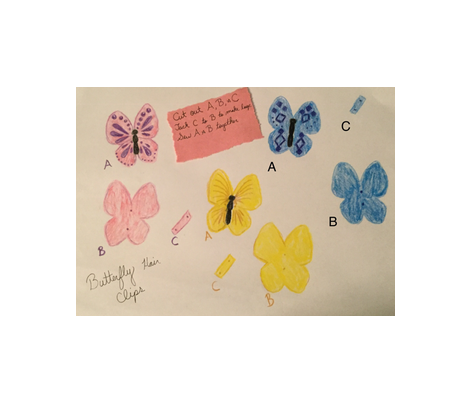 butterfly hair clip  fabric by proverbs31girl on Spoonflower - custom fabric