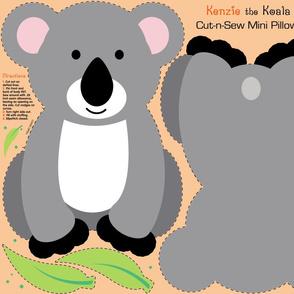 Kenzie the Koala Cut and Sew Mini Pillow