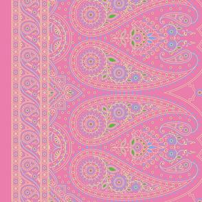 """37"""" Double-Edged Pink Sari Saree"""
