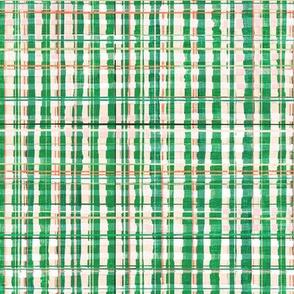 Homespun Plaid (soft green) MED