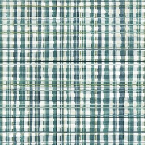 Homespun Plaid (teal grey) MED