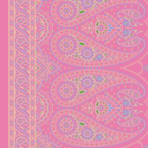 """42"""" Double-Edged Pink Sari Saree"""